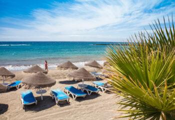 Beautiful,Sand,Beach,In,Adeje,Playa,De,Las,Americas,On
